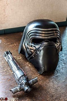Kylo Ren's mask and saber