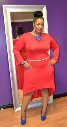 Beautiful combination of colors and accessories #Plus #size #plussizefashion