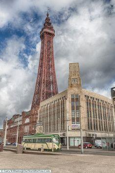 Retro Tower and Tram, Blackpool, Lancashire, England, UK Blackpool England, London England, England Uk, Blackpool Beach, British Seaside, British Isles, Beautiful Castles, You Are The World, Most Beautiful Beaches