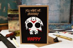 Hey, I found this really awesome Etsy listing at https://www.etsy.com/listing/516745802/jason-horror-card-birthday-love