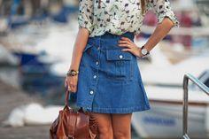 #denim #70s #blouse #romwe #hat #boho #inspiration #style #fashion #sailor #marine #fashioblogger
