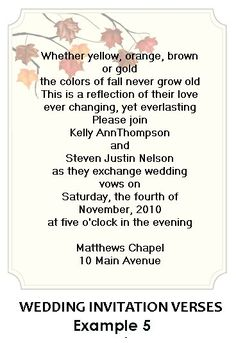 Wedding+Invitation+Wording+Ideas | Text Is A Wonderful Way To Give The