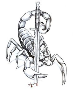 Scorpio holding a sword
