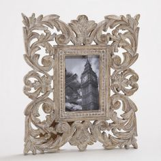 Gray Wash Isla Carved Frame