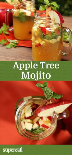 This take on the classic Mojito gets a punch of fall flavor from Applejack and fresh, chopped apples. Built in a Mason jar, the basic recipe is perfect for taking on the road for an autumnal picnic or campfire cocktail. When the temperature drops too low to venture outside, mint sprigs threaded through cinnamon sticks create tiny trees for garnish, bringing a little bit of nature right into your glass.