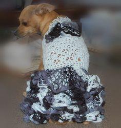 Ruffle Butt Lace Dog Sweater Dress