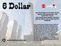 6 Dollar Essay write you essay with best writing service, our Essay are quality and cheap  #EssayWritingService #EssayHelp #WritingService #EssayHelp #6Dollar  VIsit : https://www.6dollaressay.com