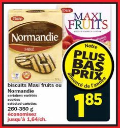Coupons et Circulaires: 1,85$ Biscuits DARE