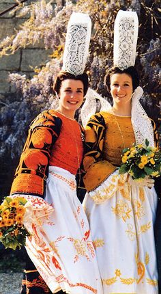 FolkCostume&Embroidery: Overview of the Costumes and Embroidery of Breizh, Brittany or Bretagne We Are The World, People Around The World, Costumes Around The World, Ethnic Dress, Folk Costume, World Cultures, Folklore, Traditional Dresses, Ukraine