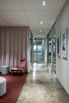Interior Design Boards, Office Interior Design, Office Interiors, Exposed Trusses, Concrete Column, Community Housing, Luxury Office, Coworking Space, Interior Architecture