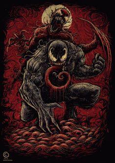 Venom Comics, Marvel Venom, Marvel Art, Marvel Heroes, Hacker Logo, All Mythical Creatures, Maximum Carnage, Symbiotes Marvel, Venom Art