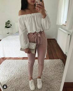 Elegant Off Shoulder Outfits Ideas That Every Women Will Love Source by Outfits juveniles Cute Casual Outfits, Girly Outfits, Simple Outfits, Pretty Outfits, Stylish Outfits, Classy Outfits For Teens, Work Outfits, Off Shoulder Outfits, Off Shoulder Top Outfit Casual