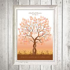 Surprise guests with this stunning fingerprint tree - a fun and creative alternative to the traditional guest book. Guests leave a thumbprint or