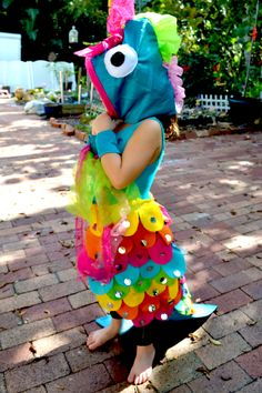 Rainbow Fish Costume Side