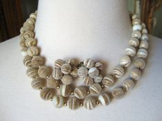 Vintage Stunning Artistic Frosted Beads Two by Bestintreasures
