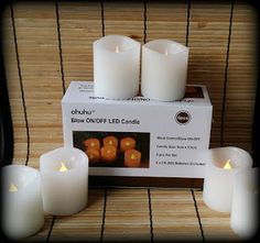 Check out the #Ohuhu Beautiful Flameless Candles made with real wax & they blow on/off like a real candle!