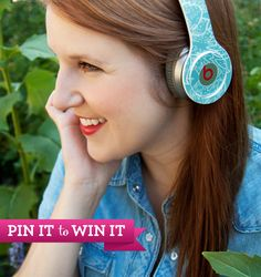 Re-pin to win GelaSkins for your Beats by Dre headphones (or your fave music device)! Winners will be selected June 3rd. #gelaskins #gelaskinspintowin www.gelaskins.com