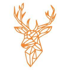 Silhouette Design Store: geometric deer head