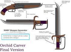 RWBY Weapon - Orchid Carver Final Version by Al-Fatman.deviantart.com on @DeviantArt