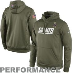 Nike New York Giants Salute to Service KO Pullover Performance Hoodie - Olive #SalutetoService