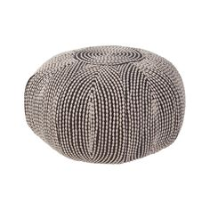 The pattern of this pouf resembles strings of puka shells, draped against the dark soft fabric. Wrapped around in spiraling patterns, this pillow is fun for the eyes and instantly adds character to any...  Find the The Puka Pouf, as seen in the Eclectic Fall Fête Collection at http://dotandbo.com/collections/eclectic-fall-fete-1?utm_source=pinterest&utm_medium=organic&db_sku=106860