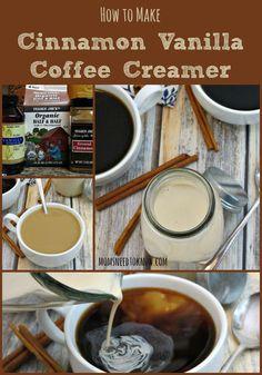 How To Make Cinnamon Vanilla Coffee Creamer collage