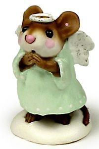 "Wee Forest Folk Mouse ""Ice Angel"" - for sale on Ruby Lane"