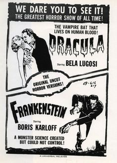 Double feature Dracula & Frankenstein