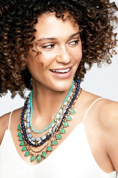 I'm OBSESSED! Wear this one 5 ways!! Blue & Green Beaded Statement Necklace | Green Sutton Necklace | Stella & Dot Spring 2014 www.stelladot.com/mandybassetti