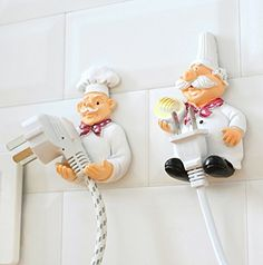 H.YOUNG 2 Pack Mobile Power Plug Line Hook Cook Cheif Wall Hook Plug Storage Rack Child Gift -- Awesome products selected by Anna Churchill
