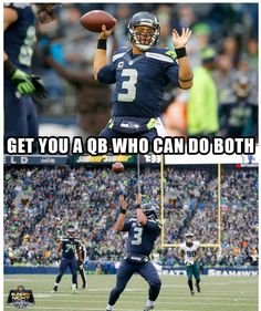 Russell Wilson plays wide receiver too! Nfl Memes, Football Memes, Sports Memes, Nfl Sports, Football Pics, Funny Sports, Seahawks Memes, Seahawks Fans, Seahawks Football