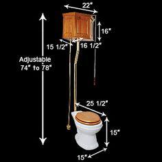 High pull chain toilet Steampunk Furniture, Vintage Furniture, Art Nouveau, Toilet Cistern, Retro Bathrooms, Steam Showers, Bath Fixtures, Downstairs Bathroom, Pull Chain