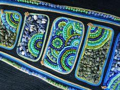 """Купить Сумка """"Восток-дело тонкое"""" - чёрный, сумка джинсовая, Сумка с вышивкой, сине-зелёная"""