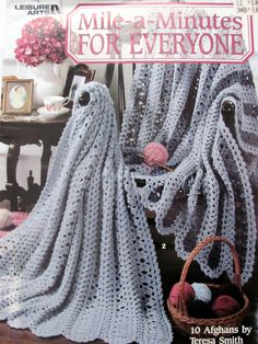 Mile - A  - Minutes Afghans for Everyone, Leisure Arts 3033, 10  Afghan Crochet Patterns