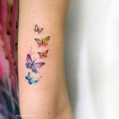 Butterflies by Mary Ellen butterfly tattoo Butterflies by Mary Ellen - Tattoo, Tattoo ideas, Tattoo shops, Tattoo actor, Tattoo art Watercolor Butterfly Tattoo, Tiny Butterfly Tattoo, Watercolor Tattoos, Mini Tattoos, Small Tattoos, Baby Tattoos, Finger Tattoos, Body Art Tattoos, New Tattoos