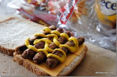 We think Melanie's Sausage & Mustard Sandwich is a tasty way to Sandwich it at lunch!