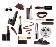 """""""Our brown homage"""" by eslbull ❤ liked on Polyvore featuring beauty, L'Oréal Paris, Topshop, Dr. Martens, Organic Glam, Laura Mercier, Bobbi Brown Cosmetics, Kevyn Aucoin, Rifle Paper Co and Fornasetti"""