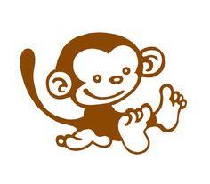 Baby Monkey Vinyl Decal/Sticker