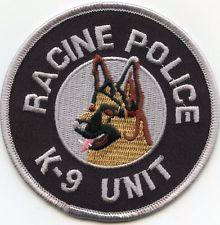 RACINE WISCONSIN K-9 POLICE PATCH