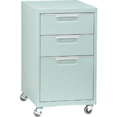 TPS mint file cabinet in office furniture | CB2