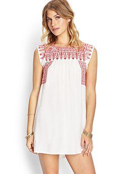 Embroidered Smock Dress | FOREVER21 - 2000126489