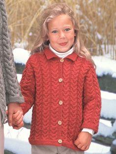 Girl's Cuddly Cables Cardigan | Yarn | Free Knitting Patterns | Crochet Patterns | Yarnspirations