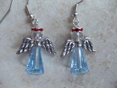 Handmade Beaded Swarovski Crystal Angel by AmberMoonGallery, $14.99