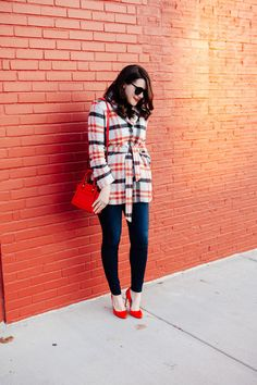 Outfit Ideas for Statement Coats | Plaid Perfection
