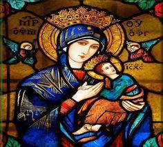 JEZUS en MARIA Groep.: MARIA, MOEDER VAN ALTIJDDURENDE BIJSTAND/ Moeder van altijddurende bijstand  Maria, ik kniel met een groot  en kinderlijk vertrouwen  voor uw beeltenis neer Nog nooit heeft iemand tevergeefs tot u zijn toevlucht genomen. Aan het kruis heeft uw goddelijke Zoon u als mijn moeder gegeven en hebt gij mij als uw kind aangenomen. Laat mij niet ongetroost van u heengaan. Voortdurend heb ik uw moederlijke bijstand nodig. Moeder, zie dan vol goedheid en medelijden op mij neer…