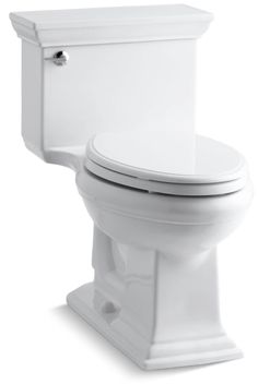 Kohler K-3813 Memoirs Stately 1.28 GPF One-Piece Elongated Comfort Height Toilet White Fixture Toilet One-Piece Elongated