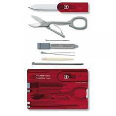 Victorinox SwissCard Pocket Tool (Jelly Red) - Victorinox from SwissArmy365 UK