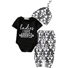 fa4ff5f6c0a Baby Boys ARRIVED Coming Home Outfit Bodysuits Pants Hats Outfits Set  Infant Kids Clothes (0