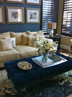 Love the drama of the dark walls.   Great rug too!  by Savvy Interiors