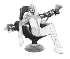 Emma Frost as the White Queen of the Hellfire Club (commission) by Travis Charest